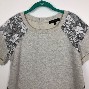 Sanctuary Tops - Sanctuary floral embroidered tunicsweatshirt small